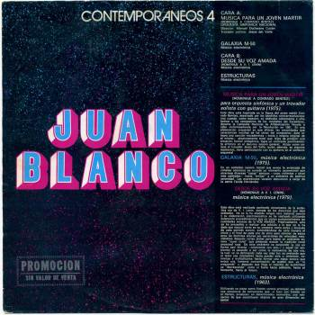 Juan Blanco s/t debut LP back cover