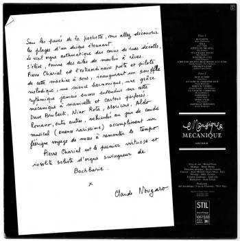 Pierre Charial - Swing Valse Machine LP back cover