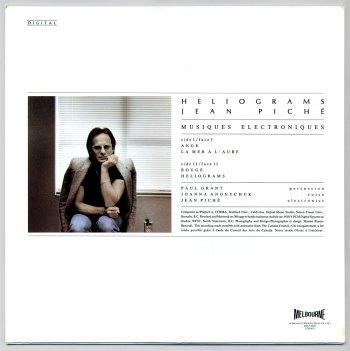 Jean Piché - Heliograms LP back cover