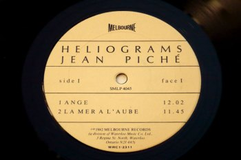 Jean Piché - Heliograms LP side 1