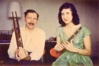 Hovhaness with wife Elizabeth Whittington
