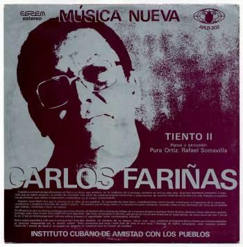 Leo Brouwer/Carlos Fariñas - Música Nueva LP back cover