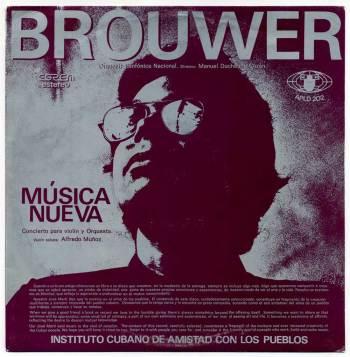 Leo Brouwer/Carlos Fariñas - Música Nueva LP front cover