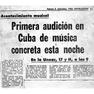 Música concreta concert, 1964