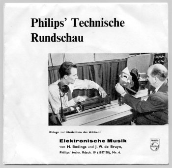 Henk Badings & JW de Bruyn - Elektronische Musik 7in single front cover