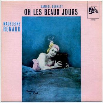 Samuel Beckett - Oh Les Beaux Jours LP front cover