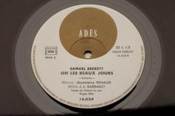 Samuel Beckett - Oh Les Beaux Jours LP side 2