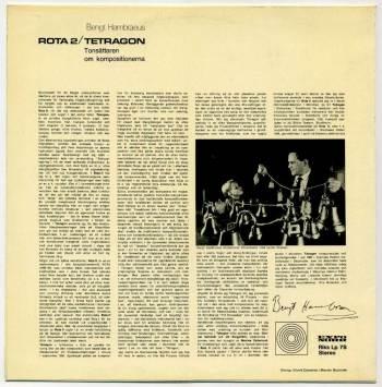 Bengt Hambreus - Rota II/Tetragon LP back cover