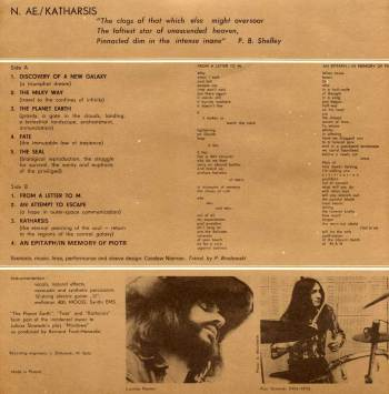 N. AE. - Katharsis LP liner notes