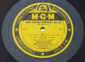 Saint Vartan Symphony LP side 1
