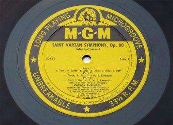 Saint Vartan Symphony LP side 1
