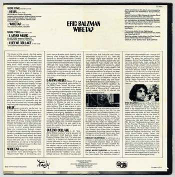 Eric Salzman - Wiretap LP back cover
