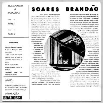 Soares Brandão - Homenagem a Foucault LP back cover