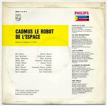 Cadmus, Le Robot de l'Espace LP back cover