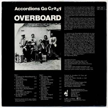 Accordions Go Crazy - Overboard LP back cover