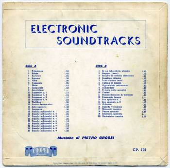 Pietro Grossi - Electronic Soundtracks LP back cover