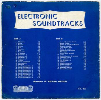 Pietro Grossi - Electronic Soundtracks LP front cover