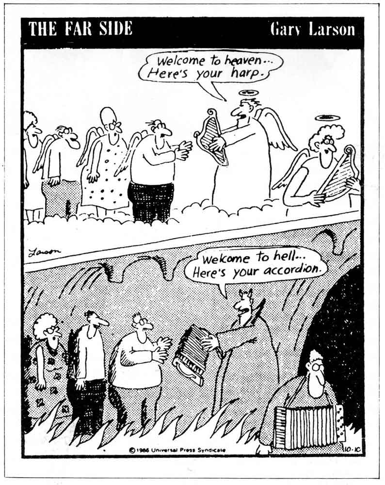 Gary Larson Far Side Cave Men Discover Fire