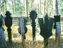 Krikstai, or wooden tombstone