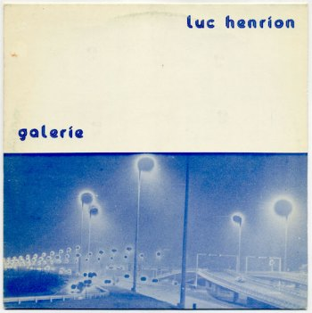 Luc Henrion - Galerie LP front cover