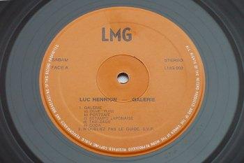 Luc Henrion - Galerie LP side A