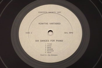 Alan Hovhaness/Komitas Vartabed - piano music LP side 2
