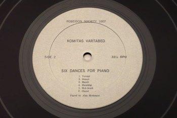 Alan Hovhaness/Komitas Vartabed - piano music LP side 2