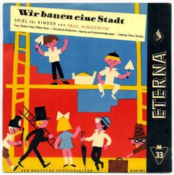 Paul Hindemith - Wir bauen eine Stadt LP front cover