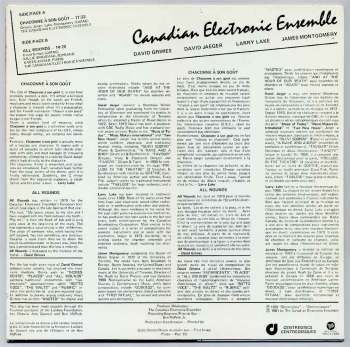 Canadian Electronic Ensemble s/t LP back cover