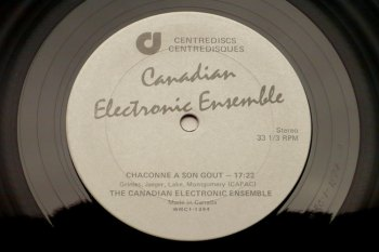 Canadian Electronic Ensemble s/t LP side A