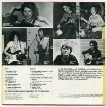 Flying Lesbians LP back cover