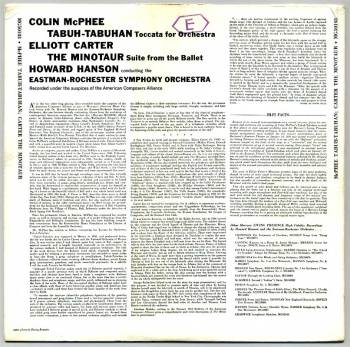 Colin McPhee-Elliott Carter LP back cover