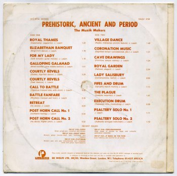 John Leach - Prehistoric, Ancient and Period LP back cover