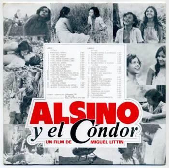 Leo Brouwer - Alsino y el Cóndor LP back cover