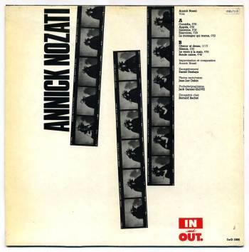 Annick Nozati - s/t debut LP back cover