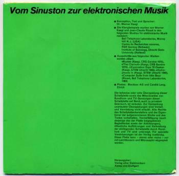 Von Sinuston zur elektronischen Musik 7in back cover
