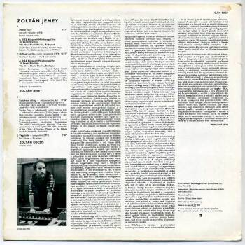 Zoltán Jeney s/t LP back cover