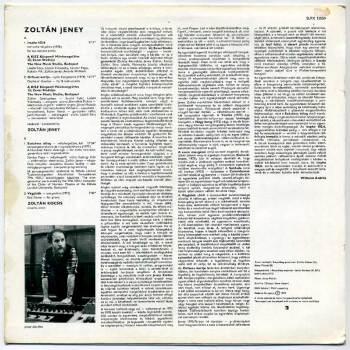 Zoltán Jeney s/t LP back cover