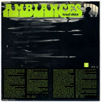 Knud Viktor - Ambiances LP back cover