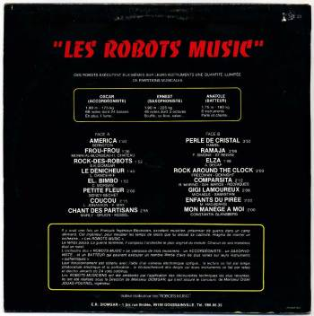 Les Robots-Music - vol.1 LP back cover