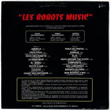 Les Robots-Music - vol.1 LP back cover