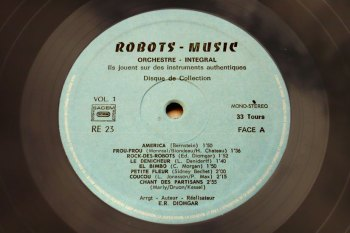 Les Robots-Music - vol.1 LP side A