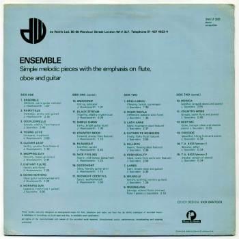Johnny Hawksworth & James Saunders – Ensemble LP back cover