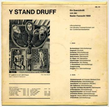 Y Stand Druff LP back cover