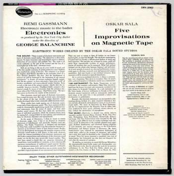 Remi Gassmann & Oskar Sala – Electronics LP back cover