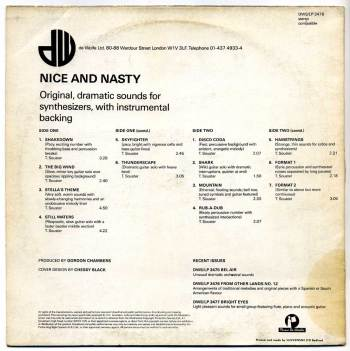 Tim Souster – Nice and Nasty LP back cover