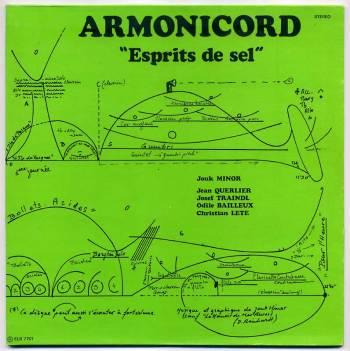 Armonicord – Esprits de sel LP front cover
