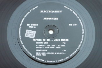 Armonicord – Esprits de sel LP side A