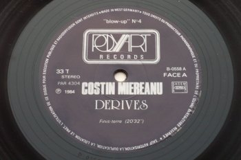 Costin Miereanu – Dérives LP side A