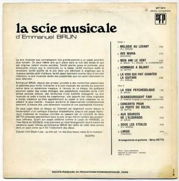 Emmanuel Brun – La Scie Musicale LP back cover